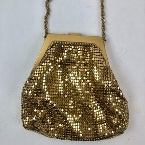 Whiting and Davis gold chain purse